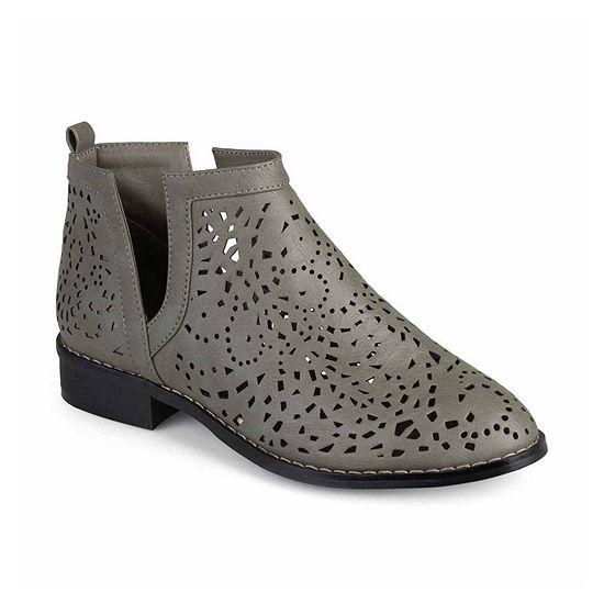 Journee Collection Womens Payton Booties Block Heel