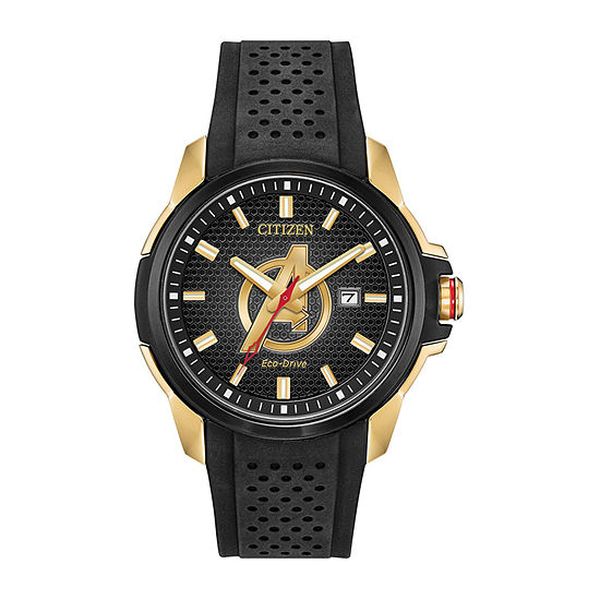 Citizen Avengers Mens Black Strap Watch-Aw1155-03w