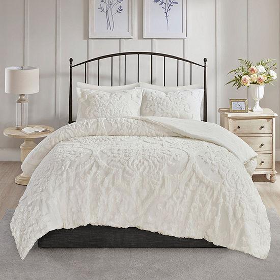 Madison Park Aeriela 3-pc. Damask and Scroll Cotton Comforter Set
