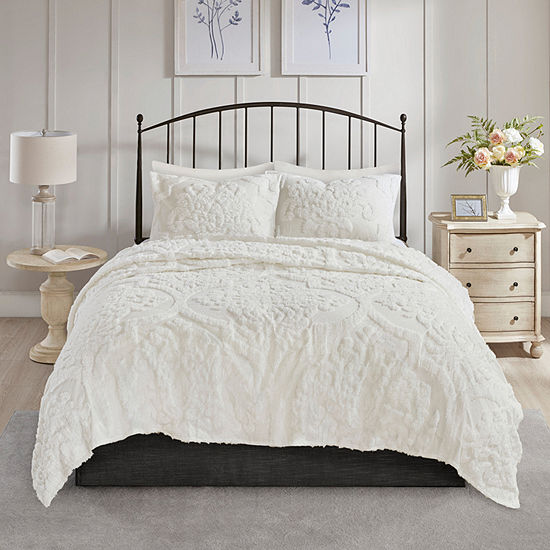 Madison Park Aeriela 3-pc. Damask and Scroll Cotton Coverlet Set
