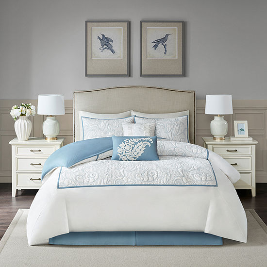 Harbor House Boxton 6 Pc Embroidered Comforter Set