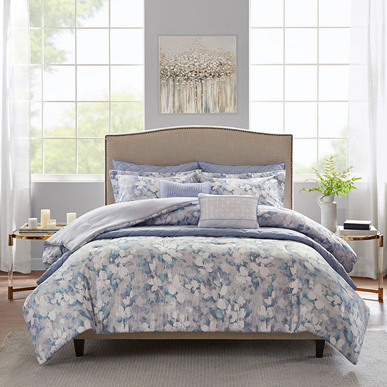 Madison Park Zinnia 8-pc. Floral Comforter Set