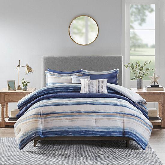 Madison Park Anchorage 8-pc. Stripes Reversible Comforter Set