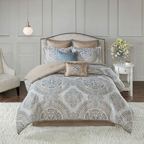 Madison Park Verena 8-pc. Chenille Jacquard Comforter Set