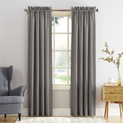 Sun Zero Emory Energy Saving Light-Filtering Rod-Pocket Set of 2 Curtain Panel