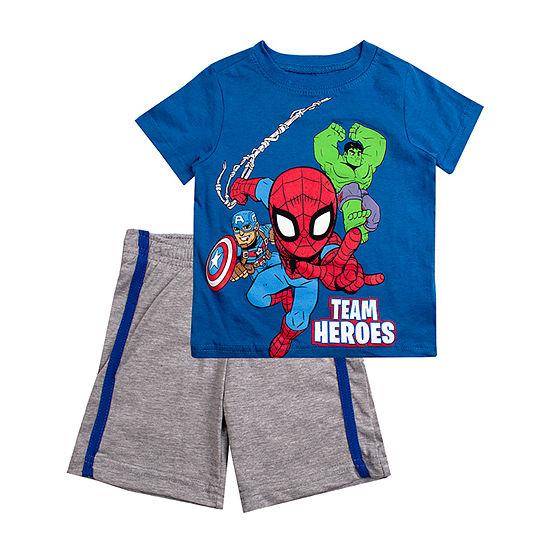 Boys 2-pc. Marvel Short Set Toddler