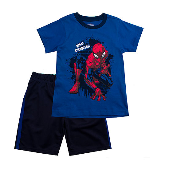 Boys 2-pc. Spiderman Short Set Toddler