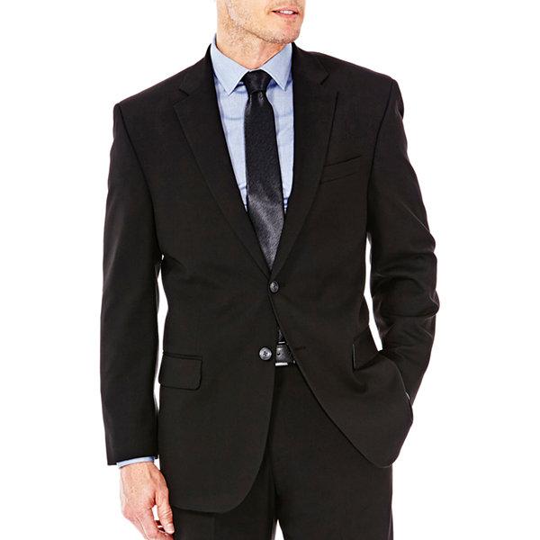 69e19c8fc5e JM Haggar Premium Stretch Sharkskin Classic Fit Black Suit Separates ...