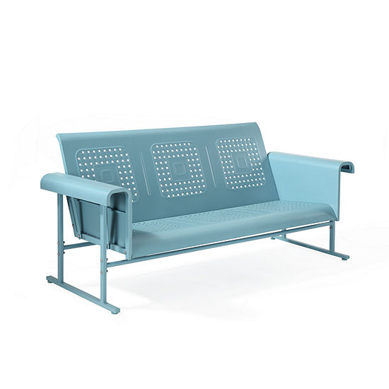 Crosley Veranda Sofa Glider In Caribbean Blue Patio Sofa