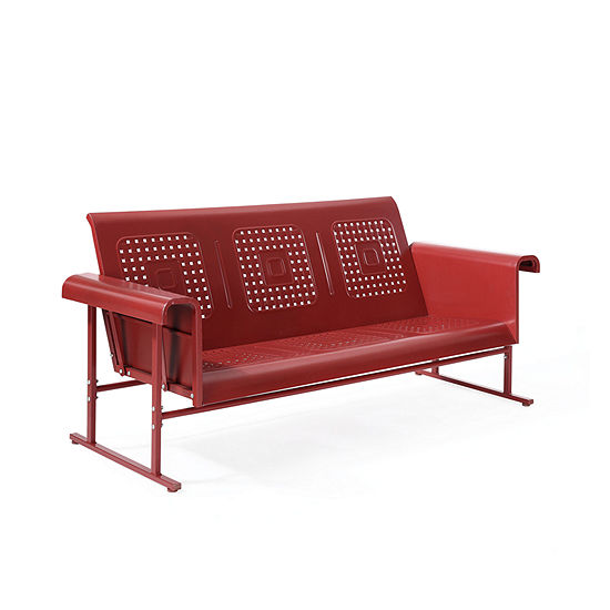 Crosley Veranda Sofa Glider In Coral Red Patio Sofa