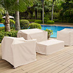 Crosley 4-Piece Furniture Cover Set (Loveseat; 2 Chairs; Coffee Table) Patio Set Cover