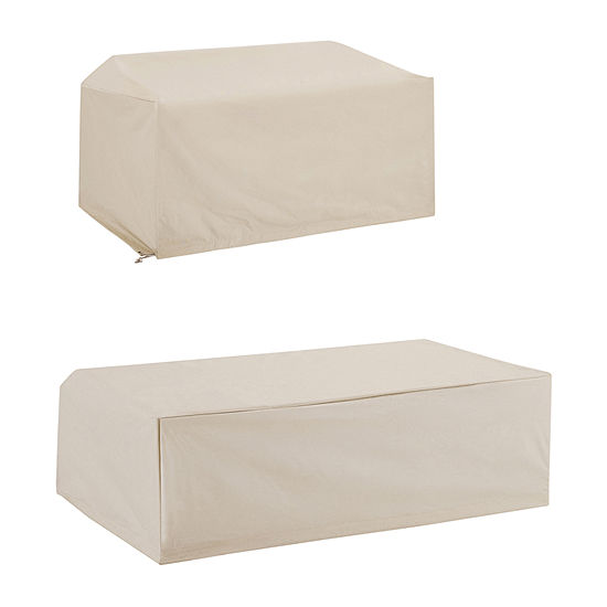 Crosley 2-Piece Furniture (Loveseat, Coffee Table) Patio Set Cover