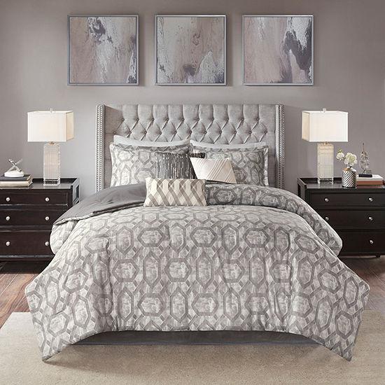 Madison Park Nonnah 7-pc. Jacquard Comforter Set