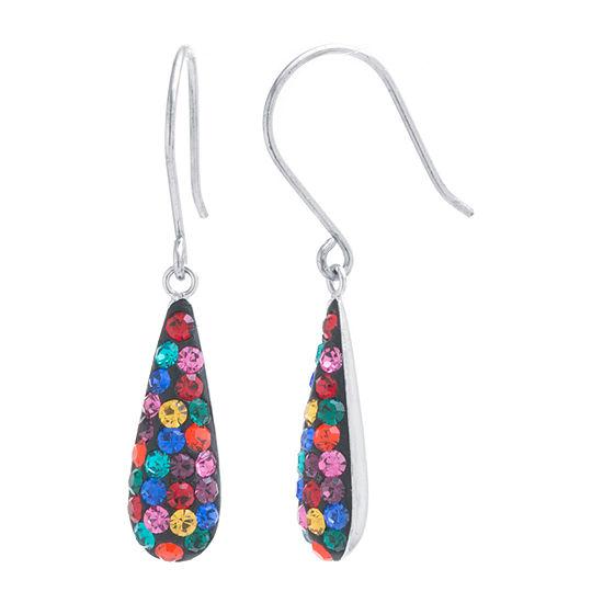Silver Treasures Sterling Silver Pear Drop Earrings