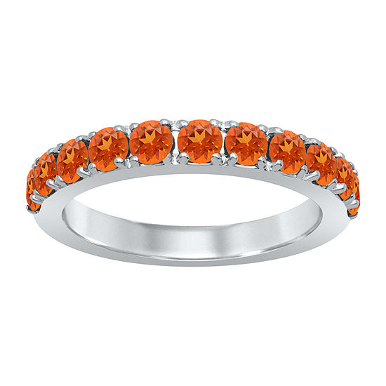 Universe Fine Jewelry By Marvel Womens Genuine Orange Topaz Round Cocktail Ring