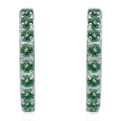 Universe Fine Jewelry By Marvel Genuine Green Topaz 4.7mm Hoop Earrings