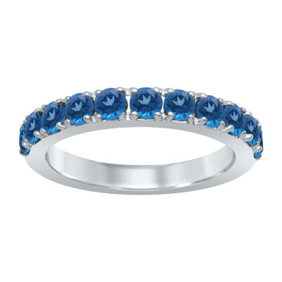 Universe Fine Jewelry By Marvel Womens Genuine Blue Topaz Sterling Silver Round Avengers Cocktail Ring