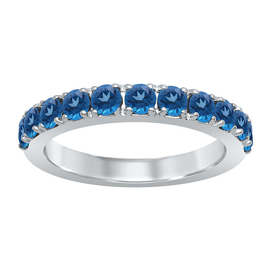 Universe Fine Jewelry By Marvel Womens Genuine Blue Topaz Sterling Silver Round Cocktail Ring