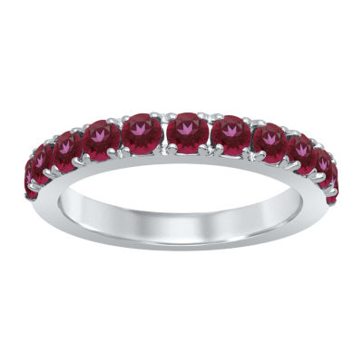 Universe Fine Jewelry By Marvel Womens Genuine Red Topaz Round Cocktail Ring