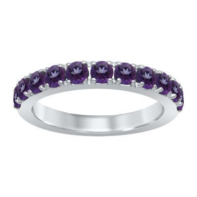 Universe Fine Jewelry By Marvel Womens Genuine Purple Topaz Round Cocktail Ring