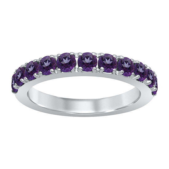 Marvel Universe Fine Jewelry By Marvel Womens Genuine Purple Topaz Sterling Silver Round Marvel Cocktail Ring