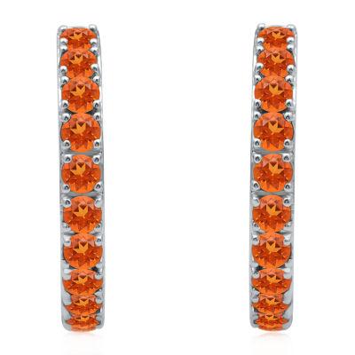 Universe Fine Jewelry By Marvel Genuine Orange Topaz 4.7mm Hoop Earrings