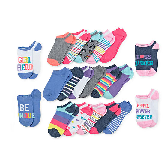 Capelli of N.Y.-Big Kid Girls 20 Pair No Show Socks