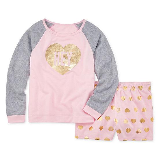 Arizona 2-pc. Shorts Pajama Set Big Girls & Plus