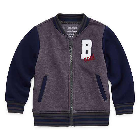 Okie Dokie Boys Varsity Jacket-Toddler