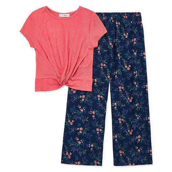 Knit Works Girls 2-pc. Pant Set Preschool / Big Kid