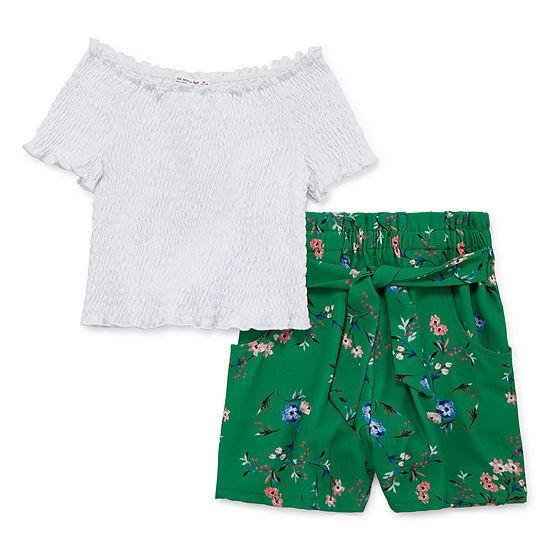 Knit Works Girls 2-pc. Short Set Toddler