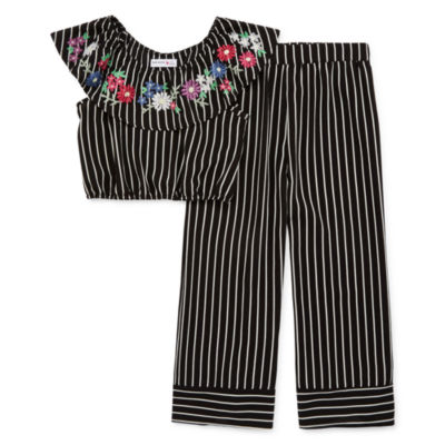 Knit Works 2-pc. Striped Pant Set Girls