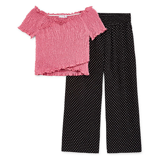 Knit Works 2-pc. Dots Pant Set Girls
