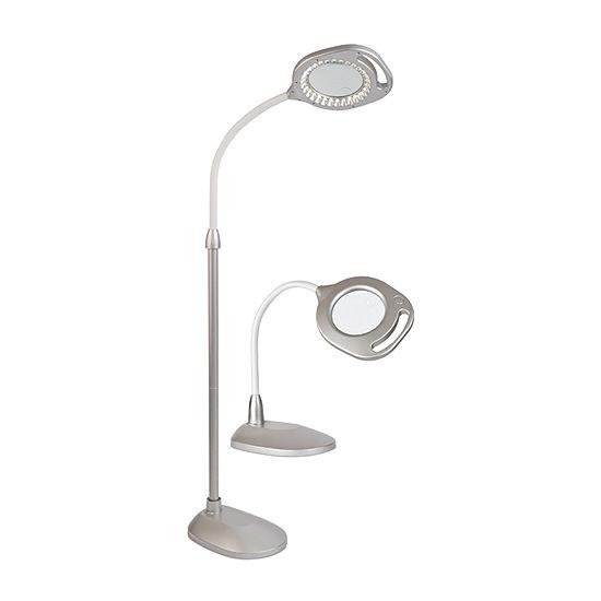 Ottlite 2-In-1 Led Mag Floor & Table Lamp Set