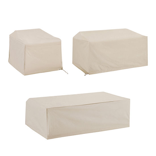 Crosley 3-Piece Furniture (Loveseat, Chair, Coffee Table) Patio Set Cover