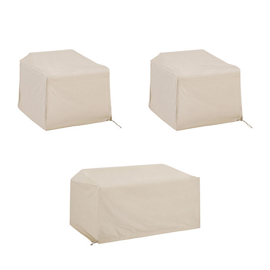 Crosley 3-Pice Furniture (Loveseat, 2 Chairs) Patio Set Cover