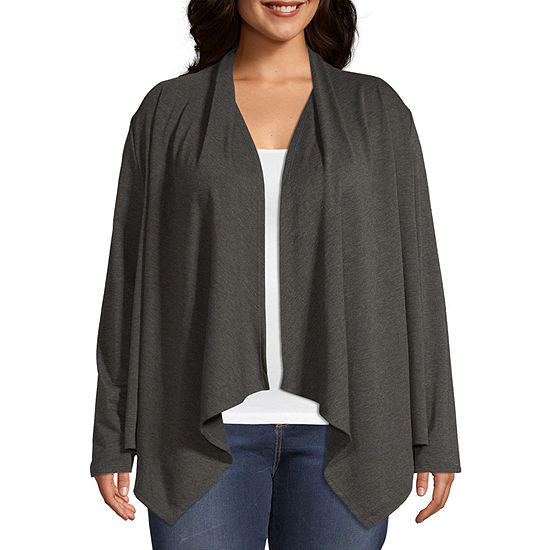 Lone Lux Womens Long Sleeve Cardigan-Plus