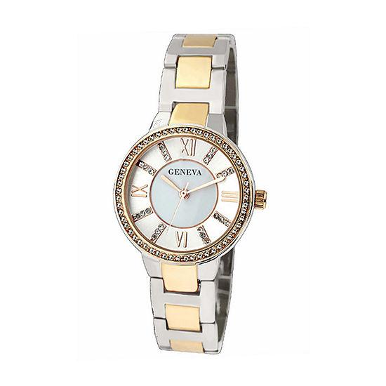 Geneva Womens Gold Tone Bracelet Watch-Jry5189ttg
