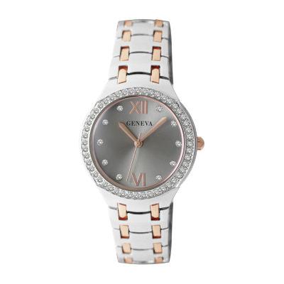 Geneva Womens Rose Goldtone Bracelet Watch-Jry5342ttr