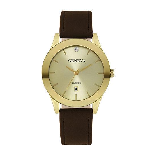 Geneva Mens Gold Tone Bracelet Watch-Jry8122gd