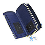 Buxton Ultimate Double Zip Organizer RFID Blocking Crossbody Wallet