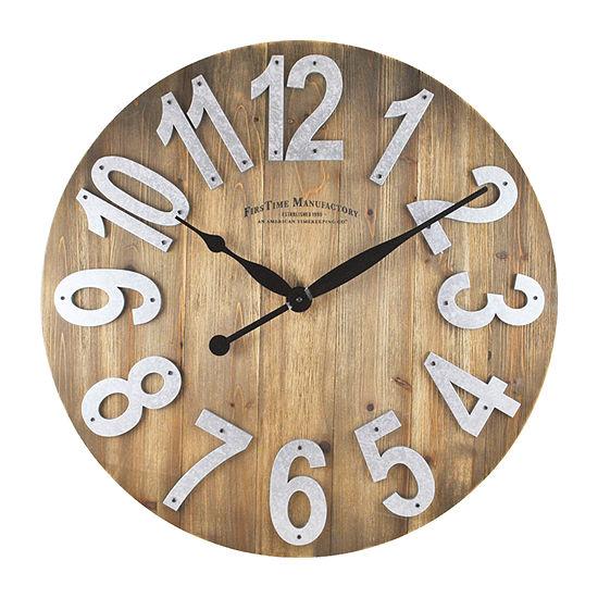 Firstime Slat Wood Wall Clock-00243