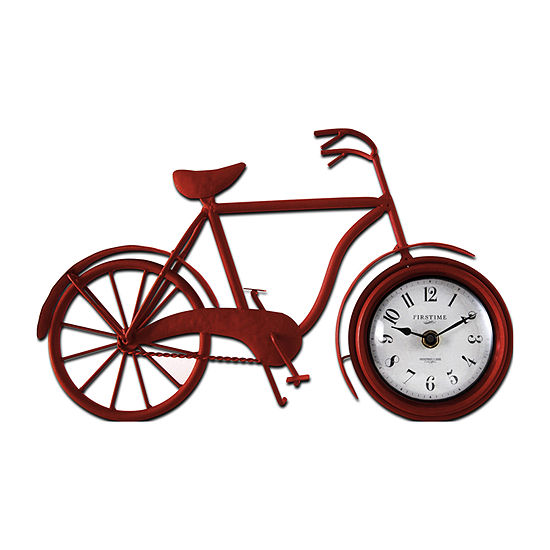 Firstime Red Bicycle Table Clock-10071