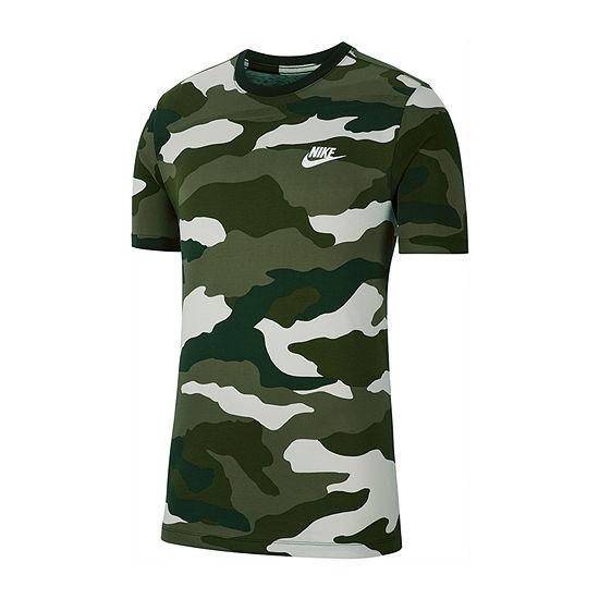 Nike Mens Camo Crew Neck Short Sleeve Moisture Wicking T-Shirt