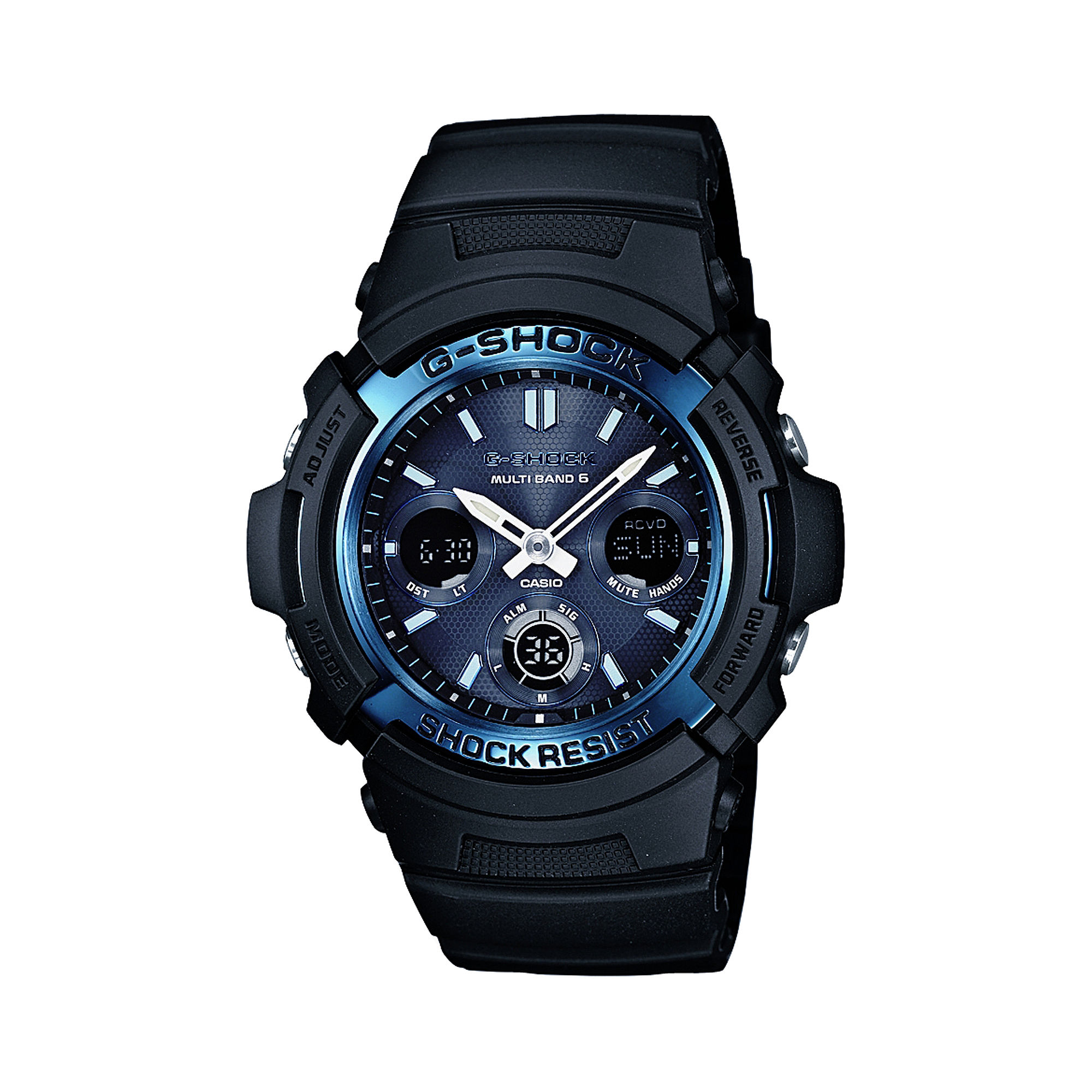 Casio G-Shock Mens Multi-Band 6-Atomic Blue Watch AWGM100A-1A