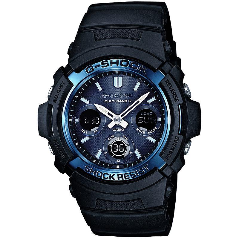 Casio G-Shock Mens Multi-Band 6-Atomic Blue Watch AWGM100A-1A