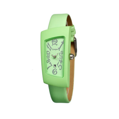 Crayo Womens Angles Mint Leather-Band Watch With Date Cracr0407
