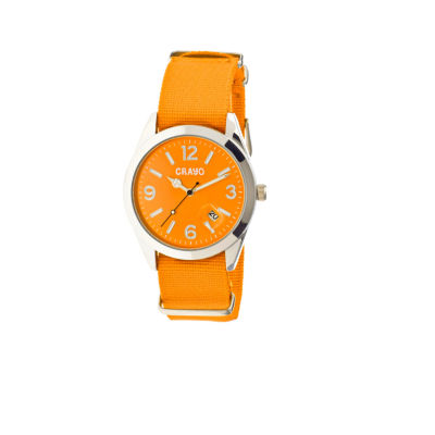 Crayo Women's Sunrise Orange Nylon-Band Watch with Date Cracr1704