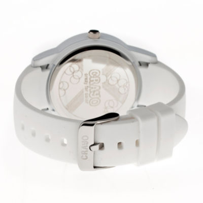 Crayo Women's Festival White Silicone-Band Watch with Date Cracr2001