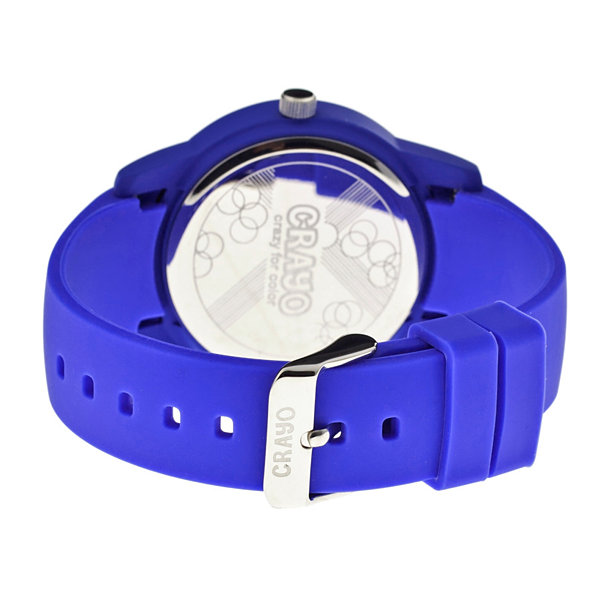 Crayo Women's Festival Purple Silicone-Band Watch with Date Cracr2004